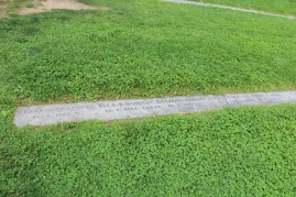 These are the resting places of the Civil War soldiers of the Union army.