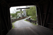 The view out of Jackson Mill bridge. Oh look, another Amish farm.