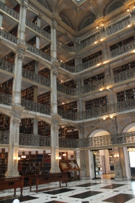 An inside look at the Peabody Library.