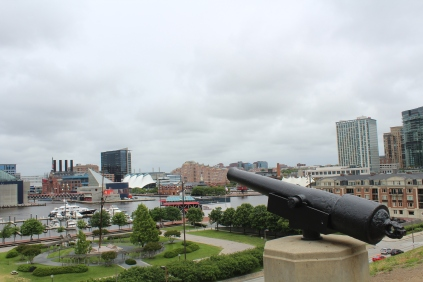 A view from the top of Federal Hill Park.