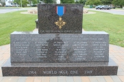 Front side to a WWI Memorial to some local boys, recipients of the Distinguished Service Cross.