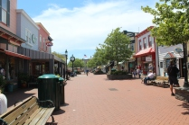 The outdoor mall area in Cape May.