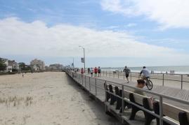 Looking north along the boardwalk toward Atlantic City.