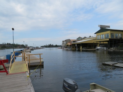 A look at the dock area at the west end of town, Alexandria Bay.