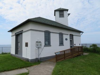 The Fog Signal Building for Tibbett's Point Lighthouse.