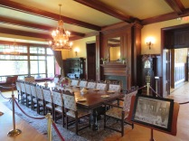 Dining room at the castle.