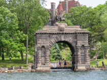 """The Peristyle Archway was the """"welcome to the island"""" entrance to Boldt Castle."""
