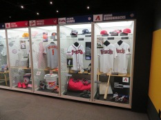 The museum is jammed with memorabilia and equipment used by baseball's best.