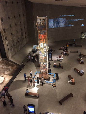 The Last Column from 911. This part of the museum is actually in the sub-structure area of the original towers.