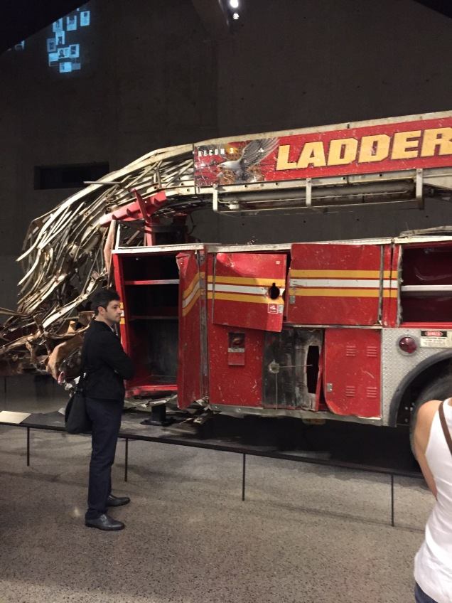 They display a lot of the actual equipment that was damaged during the massive collapse.