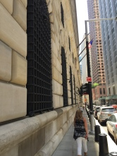 "Side of the Federal Reserve. Bars on the windows say, ""No, you're not coming in!"""