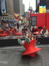 The big kid had to have play time in Times Square...