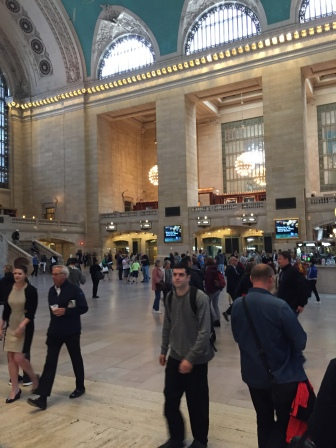 Inside Grand Central Station. Pretty busy place.