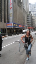 Here's my very own Rockette outside of Radio City Music Hall...