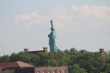 From the park we could see Lady Liberty's back side.