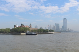 The ferry ride over to Ellis Island.