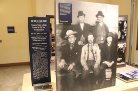 One of the many displays depicting the processing of immigrants back in the day.