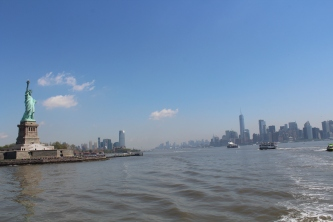 The approach to Liberty Island.