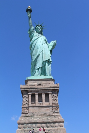 Lady Liberty, up close and personal.