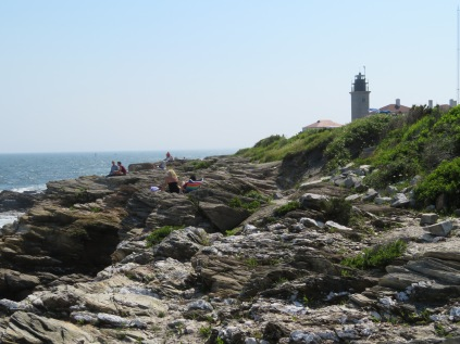 This is the beach at Beavertail Lighthouse. Not a lot of sand, though...