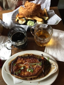 Oh yeah! Fish & Chips and Beef Stout Pie! Oh my...