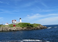 The Nubble Lighthouse, on it's island.