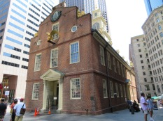 The old State House and site of the Boston Massacre.