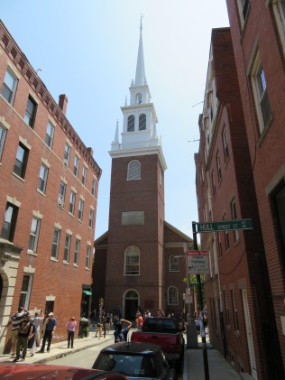 The Old North Church, site of the lantern signals by Paul Revere.