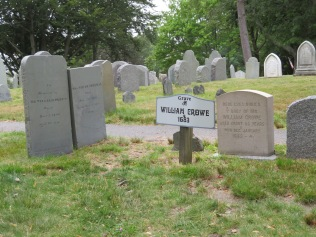 The townsfolk really want you to take note of William Crowe's grave. Sorry, I probably slept in history class that day, I don't know the man!
