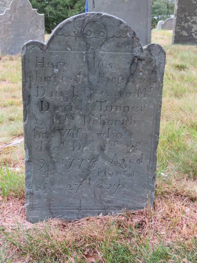 One of the old headstones that is still legible. Many are too time worn to make out.