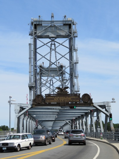 The approach from the NH side of the Memorial Bridge. Maine is on the other side.