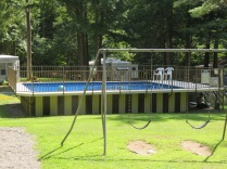 Rarely see this, a Doughboy style above ground pool at a campground. And it was clean!