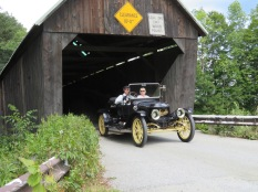 Couldn't have got it more perfect, a Stanley crossing a covered bridge. Back to the Future...