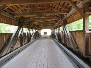 Inside view of the Taftsville Bridge.
