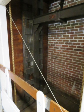 This vintage Otis elevator is inside F.H. Gillingham's store.
