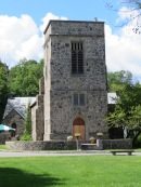 A unique church building, St. James Episcopal Church.