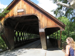 Middle Bridge found tucked in the middle of downtown Woodstock.