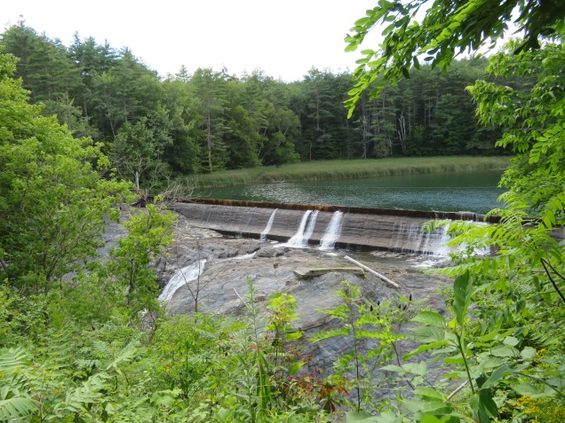 The dam upstream from the Quechee Gorge.