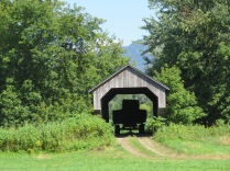 We also find covered bridges that are privately owned like this one.
