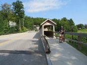 This was different, not a covered bridge but a covered walkway...