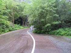 On the road through Smuggler's Notch you would not want to float over the fog line too far!