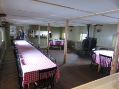 The dining room of the Tip-Top House.