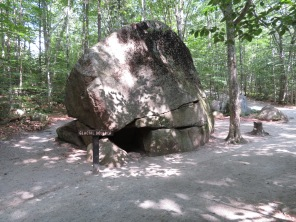 One of the many glacial boulders.