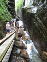 Inside the Flume Gorge.