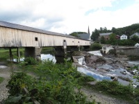 The Bath Covered Bridge is a lengthy one.