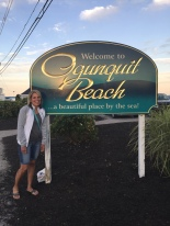 Denise was happy to be at Ogunquit Beach.