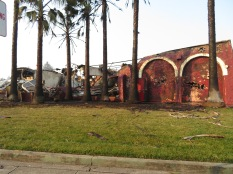 The remains of Puerto Vallarta restaurant.