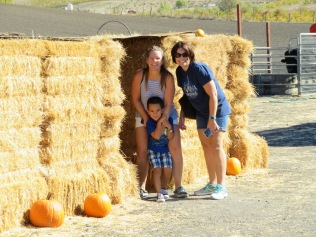 Max was a bit apprehensive about the haystack maze.