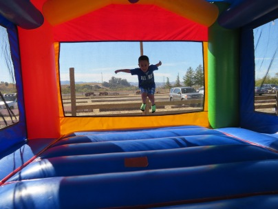 Bouncin' in the Bounce House.