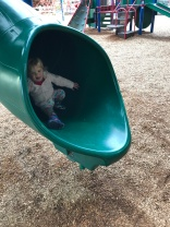 The tube slide, one of Miss Hailey's favorites!